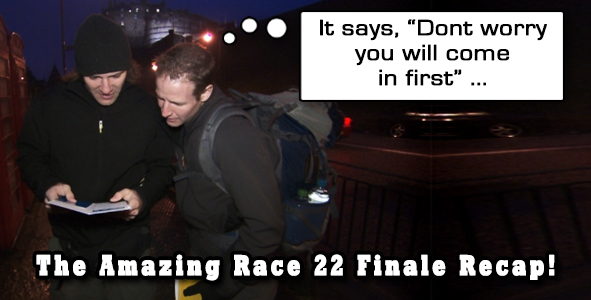 Eric Curto recaps the season finale of Amazing Race 22