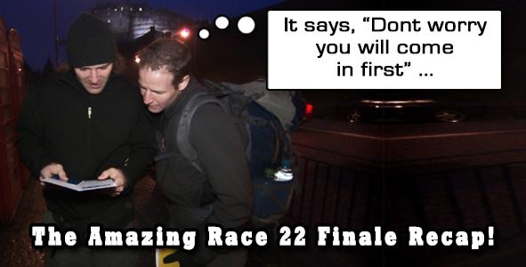 Eric Curto recaps the season finale of Amazing Race 22