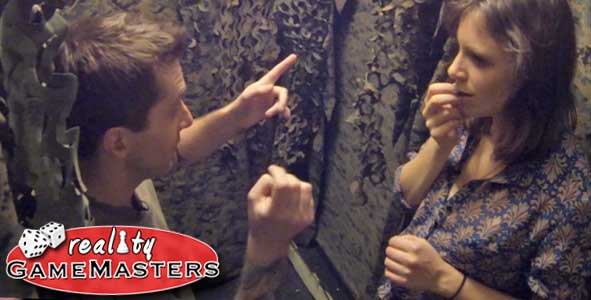 Matt Hoffman and Sophie Clarke strategize on Reality Gamemasters