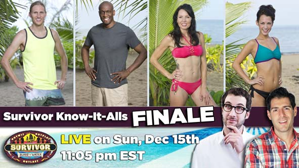 Join us LIVE for Survivor Know-It-Alls LIVE after the Blood vs Water Finale at 11:05 pm ET