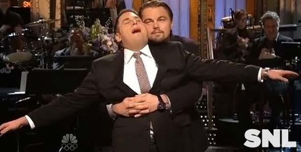 Jonah Hill brings along Leonardo DiCaprio to Saturday Night Live