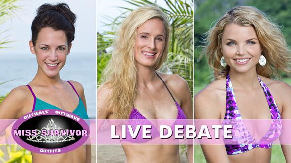 The LIVE 2014 Miss Survivor Debate: Ciera Eastin, Candice Cody, Andrea Boehlke