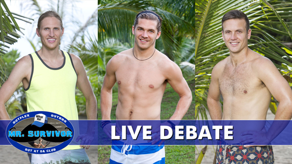 The LIVE Mr. Survivor Debate between Tyson Apostol, Malcolm Freberg and Aras Baskauskas