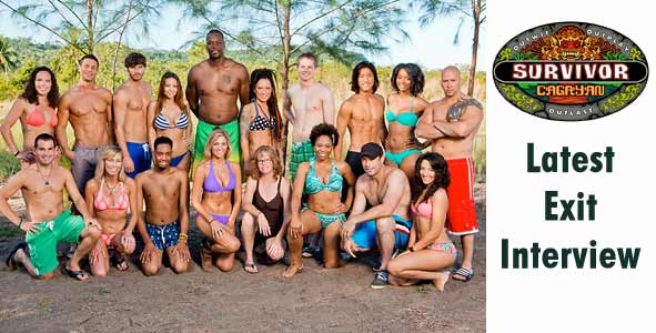 Rob Cesternino hosts an exit interview with the latest players voted off of Survivor Cagayan