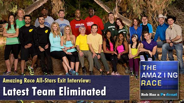 Amazing Race 2014: Rob Cesternino Talks to the Latest Team Eliminated from The Amazing Race