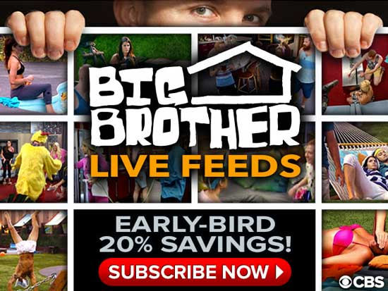 Get the Big Brother 16 Early Bird discount and be eligible to play Big Brother Live Feed Bingo
