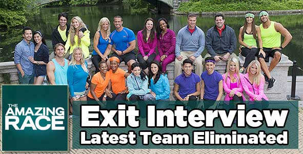 Amazing Race 2014:  Exit Interview with the Latest Team who Got Eliminated from Amazing Race 25