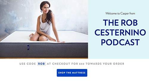 Save $50 on Casper Mattresses with the Promo Code: ROB