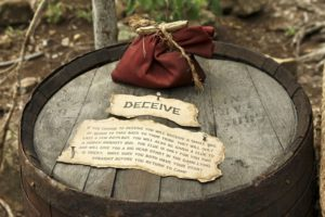 """Choosing """"Deceive"""" was a dangerous move this early in the game."""