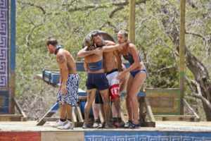 Winning the challenge was a rare bonding moment for Mike with the rest of his tribe.