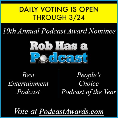 Click to Vote for RHAP at this year's Podcast Awards for Best Entertainment Podcast and People's Choice Podcast of the Year