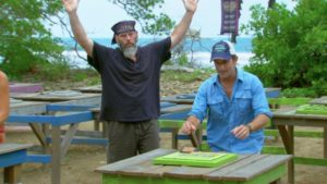 Dan's premature excitement at the challenge mirrored his victory lap in the game.