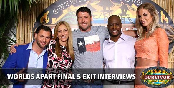 Survivor 2015: Rob's Exit interviews with the Survivor Worlds Apart Final 5 & Winner