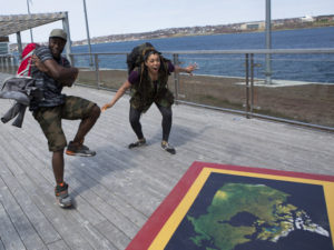 Dujean and Leilani on the Amazing Race Canada