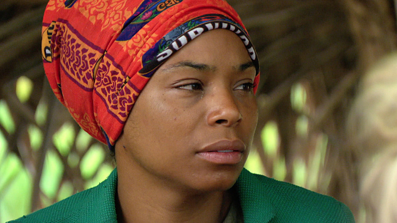 """""""Witches Coven"""" - Tasha Fox during the ninth episode of SURVIVOR, Wednesday, Nov. 18 (8:00-9:00 PM, ET/PT). The new season in Cambodia, themed """"Second Chance,"""" features 20 castaways from past editions who were voted for by fans to have another shot at being named """"Sole Survivor."""" Photo: Screen Grab/CBS �©2015 CBS Broadcasting, Inc. All Rights Reserved."""
