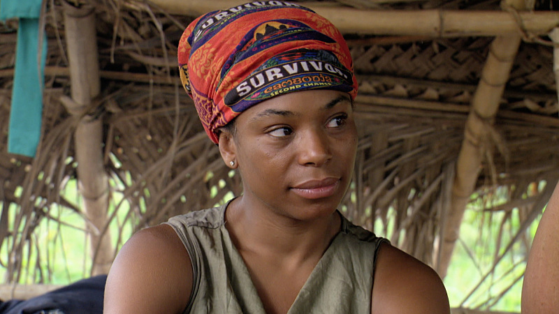 """""""Villains Have More Fun"""" - Tasha Fox during the thirteenth episode of SURVIVOR, Wednesday, Dec. 9 (8:00-9:00 PM, ET/PT). The new season in Cambodia, themed """"Second Chance,"""" features 20 castaways from past editions who were voted for by fans to have another shot at being named """"Sole Survivor."""" Photo: Screen Grab/CBS �©2015 CBS Broadcasting, Inc. All Rights Reserved."""