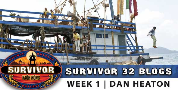 The castaways are marooned in the premiere of Survivor 32., Kaoh Rong