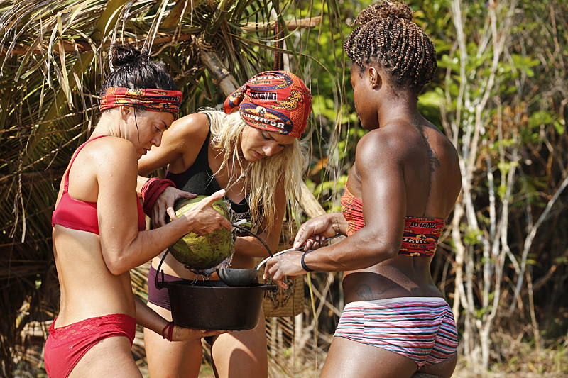 """Kindergarten Camp"" -- Jennifer Lanzetti, Alecia Holden and Cydney Gillon during the second episode of SURVIVOR KAOH: RONG -- Brains vs. Brawn vs. Beauty. The show airs, Wednesday, February 24 (8:00-9:00 PM, ET/PT) on the CBS Television Network. Photo: Robert Voets/CBS Entertainment �©2016 CBS Broadcasting, Inc. All Rights. Reserved."