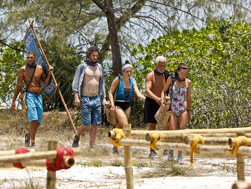 """""""Signed, Sealed and Delivered"""" -- Peter Baggenstos, Neal Gottlieb, Aubry Bracco, Joseph Del Campo and Debbie Wanner during the fourth episode of SURVIVOR KAOH: RONG -- Brains vs. Brawn vs. Beauty. The show airs, Wednesday, March 9 (8:00-9:00 PM, ET/PT) on the CBS Television Network. Photo: Monty Brinton /CBS Entertainment �©2016 CBS Broadcasting, Inc. All Rights. Reserved. Photo: Robert Voets/CBS Entertainment �©2016 CBS Broadcasting, Inc. All Rights Reserved."""