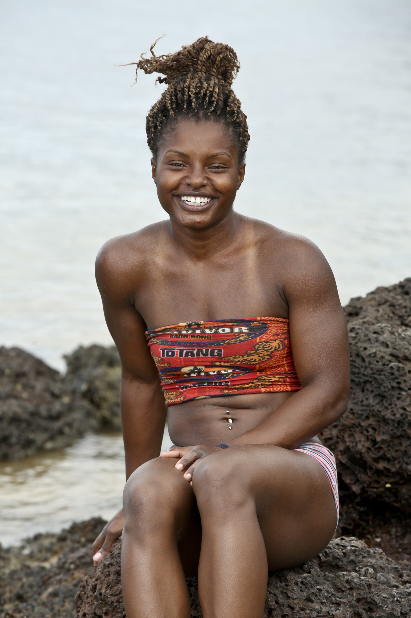 """""""I'm a Mental Giant"""" --Cydney Gillon during the new season of SURVIVOR KAOH: RONG -- Brains vs. Brawn vs. Beauty. The show premieres with a special 90-minute episode, Wednesday, February 17 (8:00-9:30 PM, ET/PT) on the CBS Television Network. Photo: Monty Brinton /CBS Entertainment �©2016 CBS Broadcasting, Inc. All Rights. Reserved."""