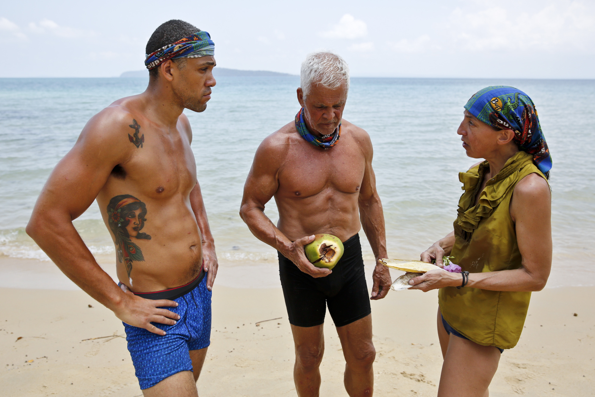 """""""Kindergarten Camp"""" -- Peter Baggenstos, Joseph Del Campo and Debbie Wanner during the second episode of SURVIVOR KAOH: RONG -- Brains vs. Brawn vs. Beauty. The show airs, Wednesday, February 24 (8:00-9:00 PM, ET/PT) on the CBS Television Network. Photo: Monty Brinton /CBS Entertainment �©2016 CBS Broadcasting, Inc. All Rights. Reserved."""