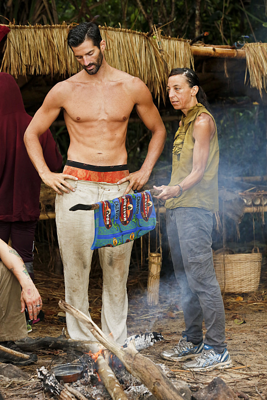 """""""Play or Go Home"""" -- Nick Maiorano and Debbie Wanner during the sixth episode of SURVIVOR KAOH: RONG -- Brains vs. Brawn vs. Beauty. The show airs, Wednesday, March 23 (8:00-9:00 PM, ET/PT) on the CBS Television Network. Photo: Robert Voets /CBS Entertainment �©2016 CBS Broadcasting, Inc. All Rights. Reserved."""