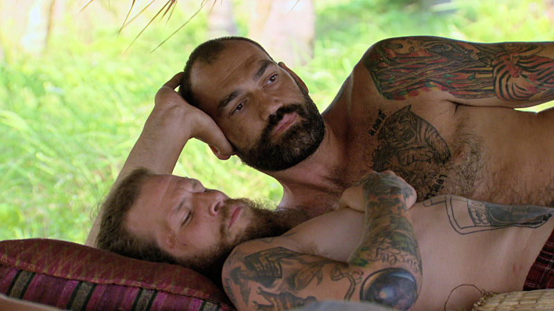 """""""I'm Not Here to Make Good Friends"""" -- Kyle Jason and Scot Pollard during the tenth episode of SURVIVOR: KAOH RONG -- Brains vs. Brawn vs. Beauty. The show airs, Wednesday, April 20 (8:00-9:00 PM, ET/PT) on the CBS Television Network. Photo: Screen Grab /CBS Entertainment �©2016 CBS Broadcasting, Inc. All Rights. Reserved."""