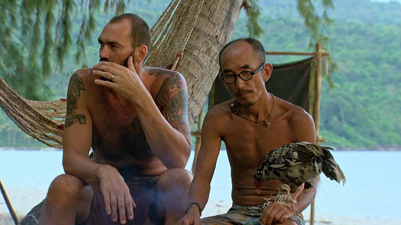 """""""I'm Not Here to Make Good Friends"""" -- Scot Pollard and Tai Trang during the tenth episode of SURVIVOR: KAOH RONG -- Brains vs. Brawn vs. Beauty. The show airs, Wednesday, April 20 (8:00-9:00 PM, ET/PT) on the CBS Television Network. Photo: Screen Grab /CBS Entertainment �©2016 CBS Broadcasting, Inc. All Rights. Reserved."""