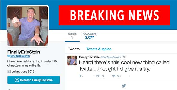 Behind Eric Stein's Shocking Decision to Join Twitter