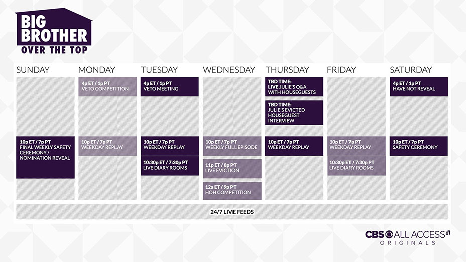 big-brother-over-the-top-schedule