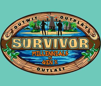 Survivor Millenials vs Gen X