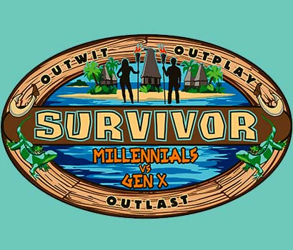 Survivor Millenials vs Gen X