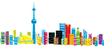 bright-pattern-toronto-patterned-skyline-city-ontario-canada-40498318