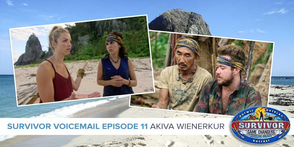 Survivor 2017: Akiva Wienerkur on the Game Changers Episode 11 Voicemails