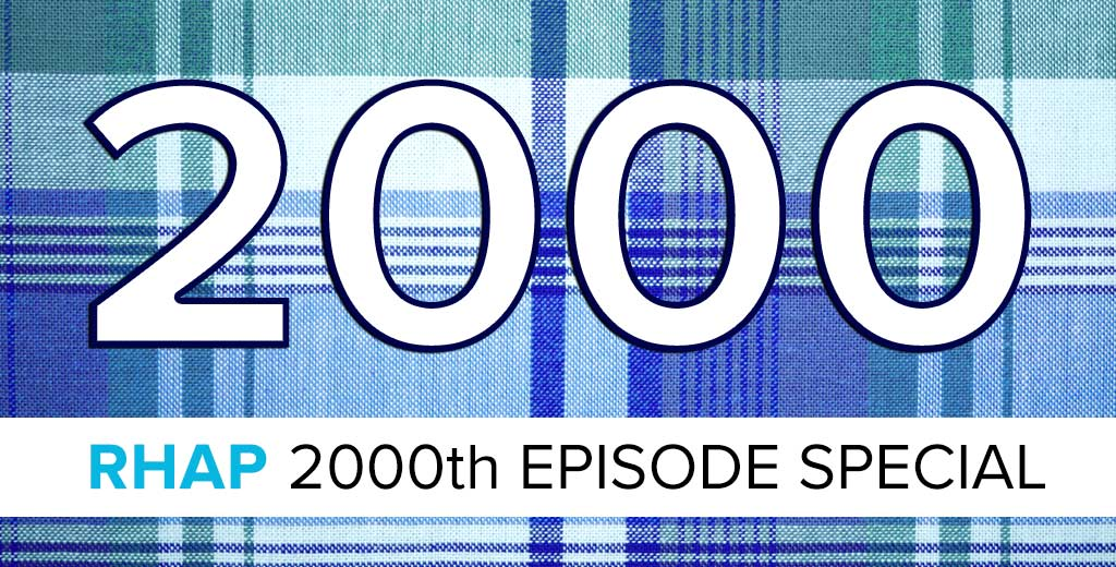 Rob Cesternino celebrates 2000 episodes of Rob Has a Podcast with highlights and guests