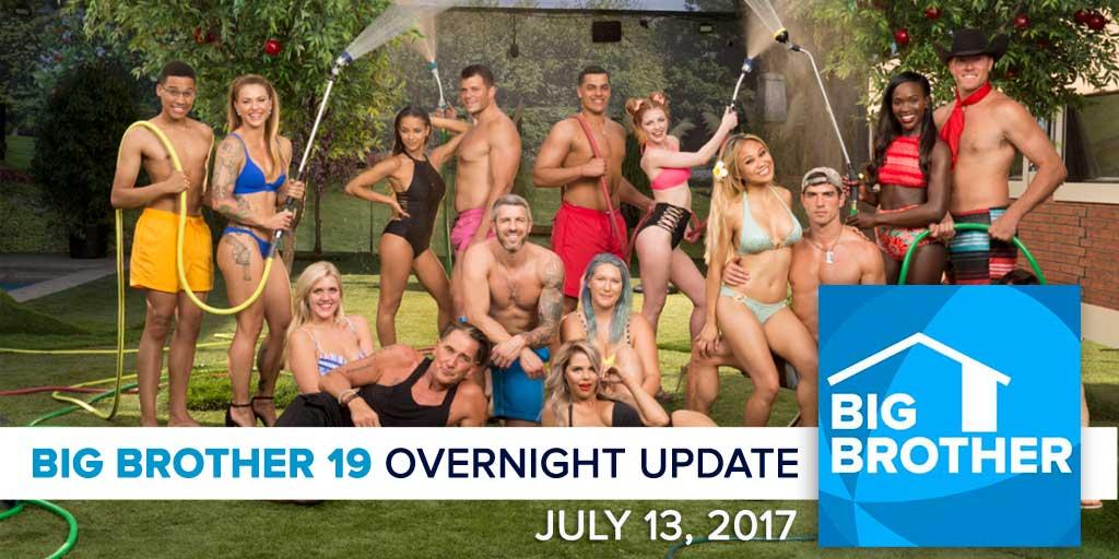 Big Brother 19 | Overnight Update Podcast | July 13, 2017 (Photo: CBS)