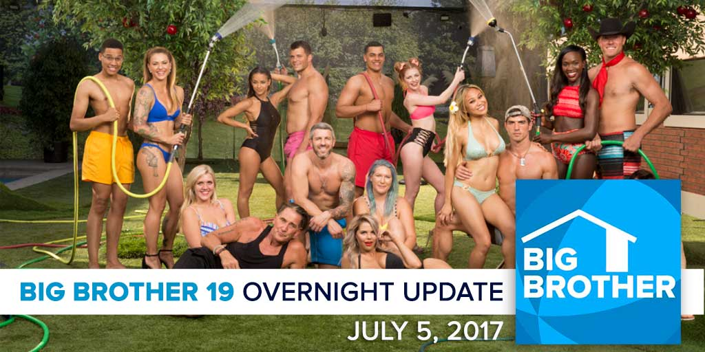 Big Brother 19 | Overnight Update Podcast | July 5, 2017 (Photo: CBS)