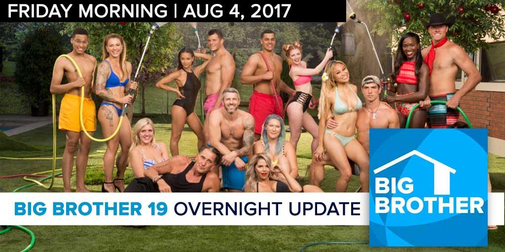 Big Brother 19 | Overnight Update Podcast | Aug 4, 2017 (Photo: CBS)