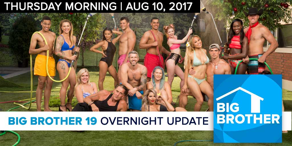 Big Brother 19 | Overnight Update Podcast | Aug 10, 2017 (Photo: CBS)