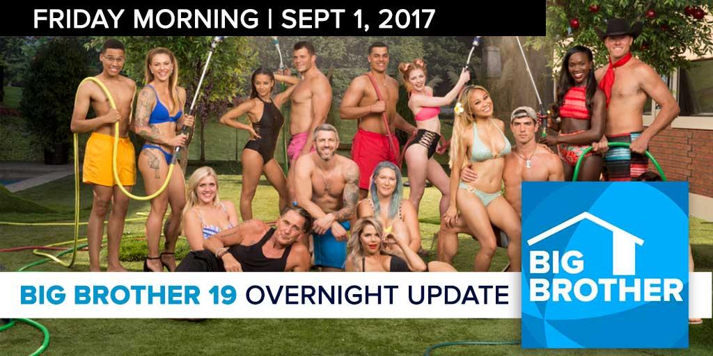 Big Brother 19 | Overnight Update Podcast | Sept 1, 2017 (Photo: CBS)