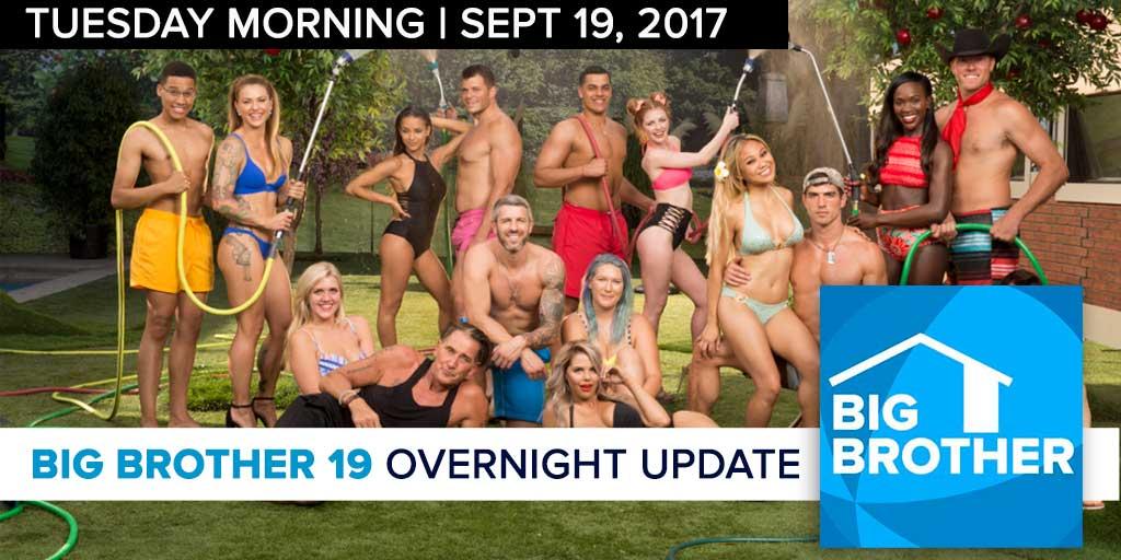 Big Brother 19 | Overnight Update Podcast | Sept 19, 2017 (Photo: CBS)