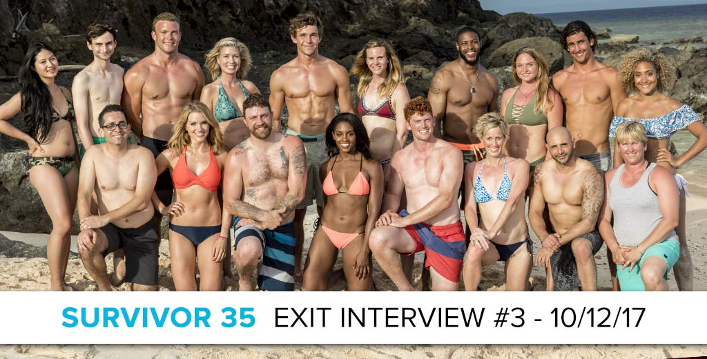 Survivor 2017: Exit Interview with the Latest Player Who Got Voted Out - October 11, 2017