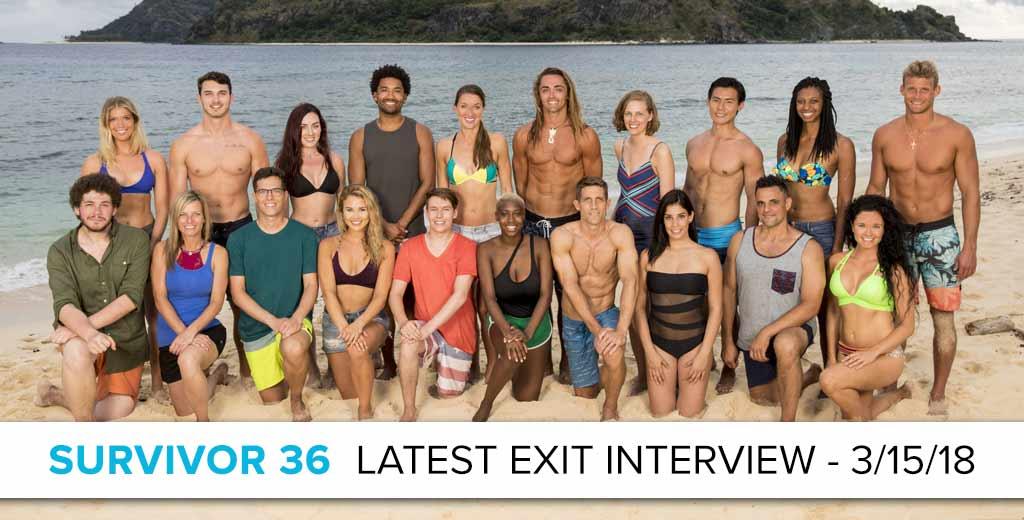 Survivor Ghost Island Latest Exit Interview with Brendan Shapiro - March 15, 2018