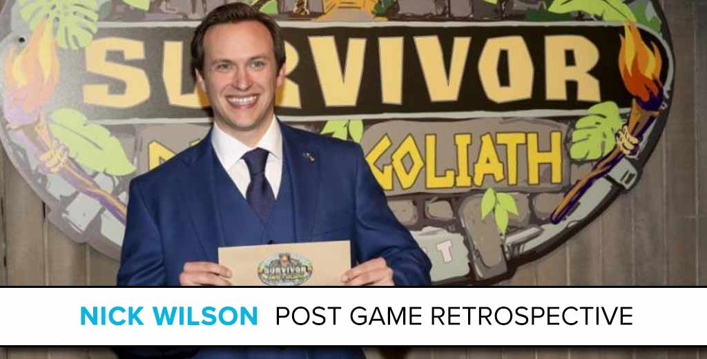 Nick Wilson: The Survivor Post Game Retrospective