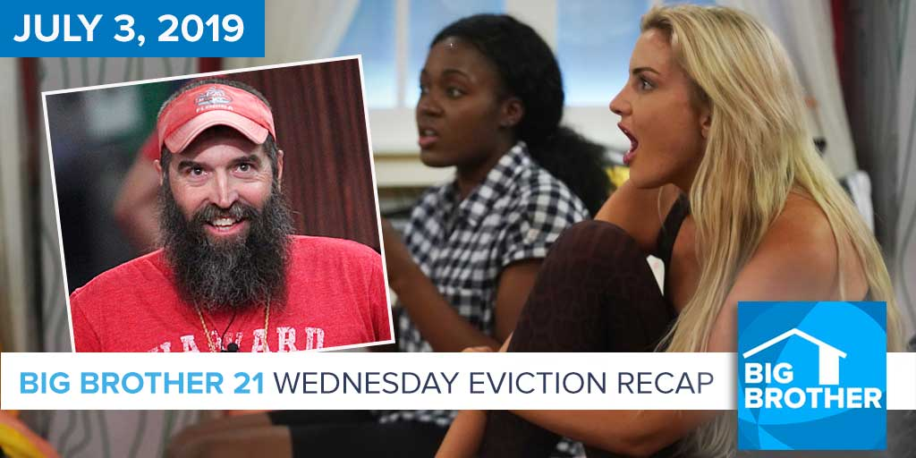 Big Brother 21 Wednesday Night July 3 Eviction Recap | Donny