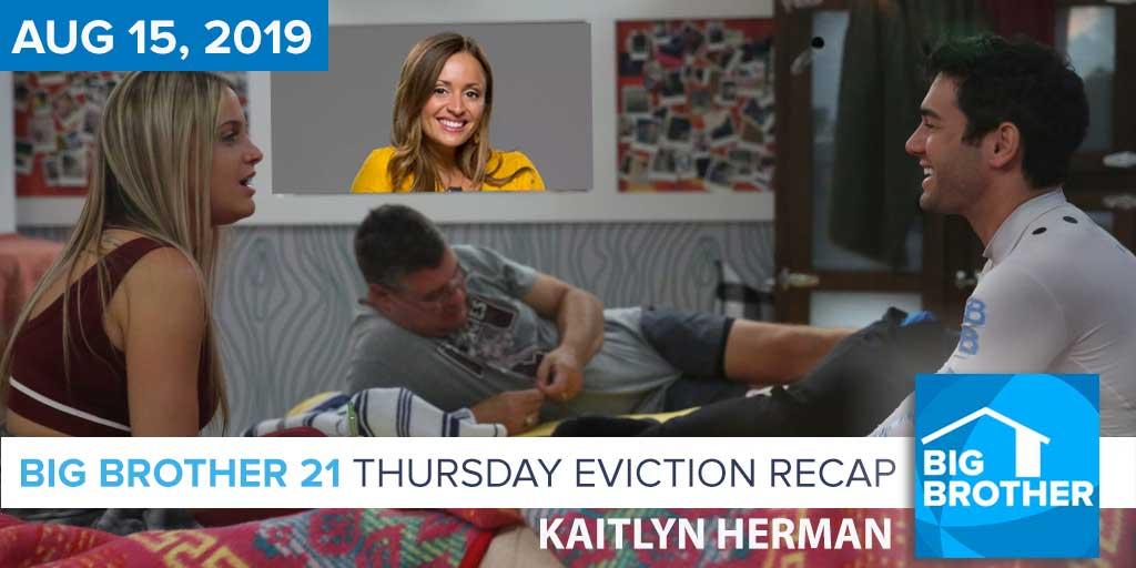 Big Brother 21 Thursday Night Aug 15 Eviction Recap