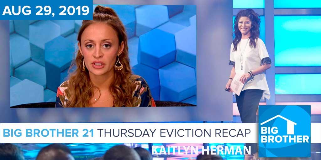 Big Brother 21 Thursday Night Aug 29 Eviction Recap