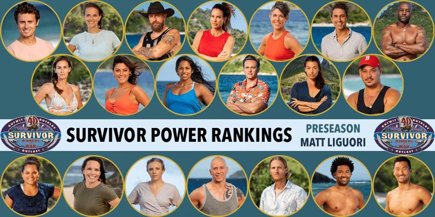 Survivor Winners At War Preseason Power Rankings