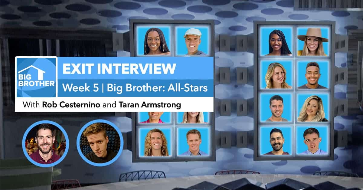Big Brother All-Stars | Week 5 Exit Interview | Sept 11, 2020