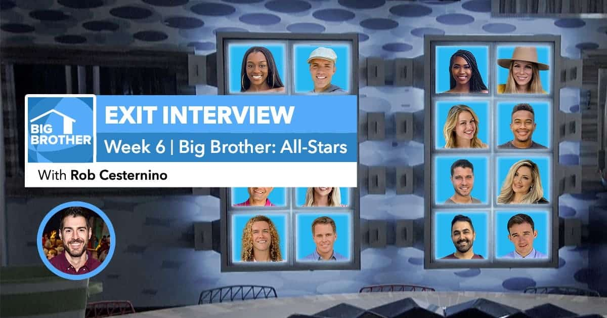 Big Brother All-Stars | Week 6 Exit Interview | Sept 18, 2020